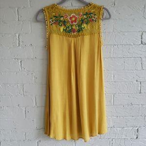 Umgee Boho Embroidered Swing Dress